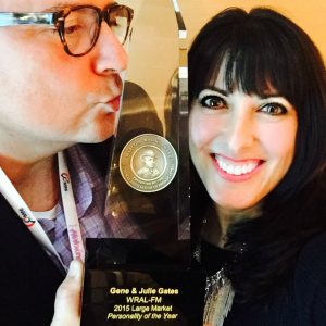 "Gene & Julie won the 2015 ""Large Market Personality of the Year Marconi Award"" from the National Association of Broadcasters."