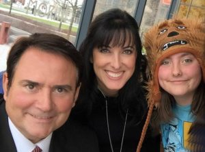 Gene & Julie with their 11-year-old daughter Sophia (who loves Star Wars).